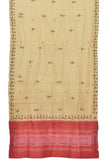 Beige Beige Tussar Silk Sambalpur Dupatta with handpainted Tribal Art
