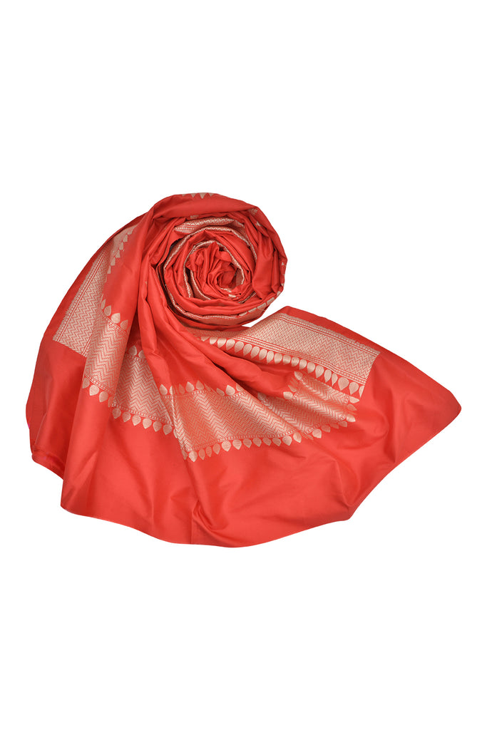 Banarasi Katan silk Dupatta in  Red