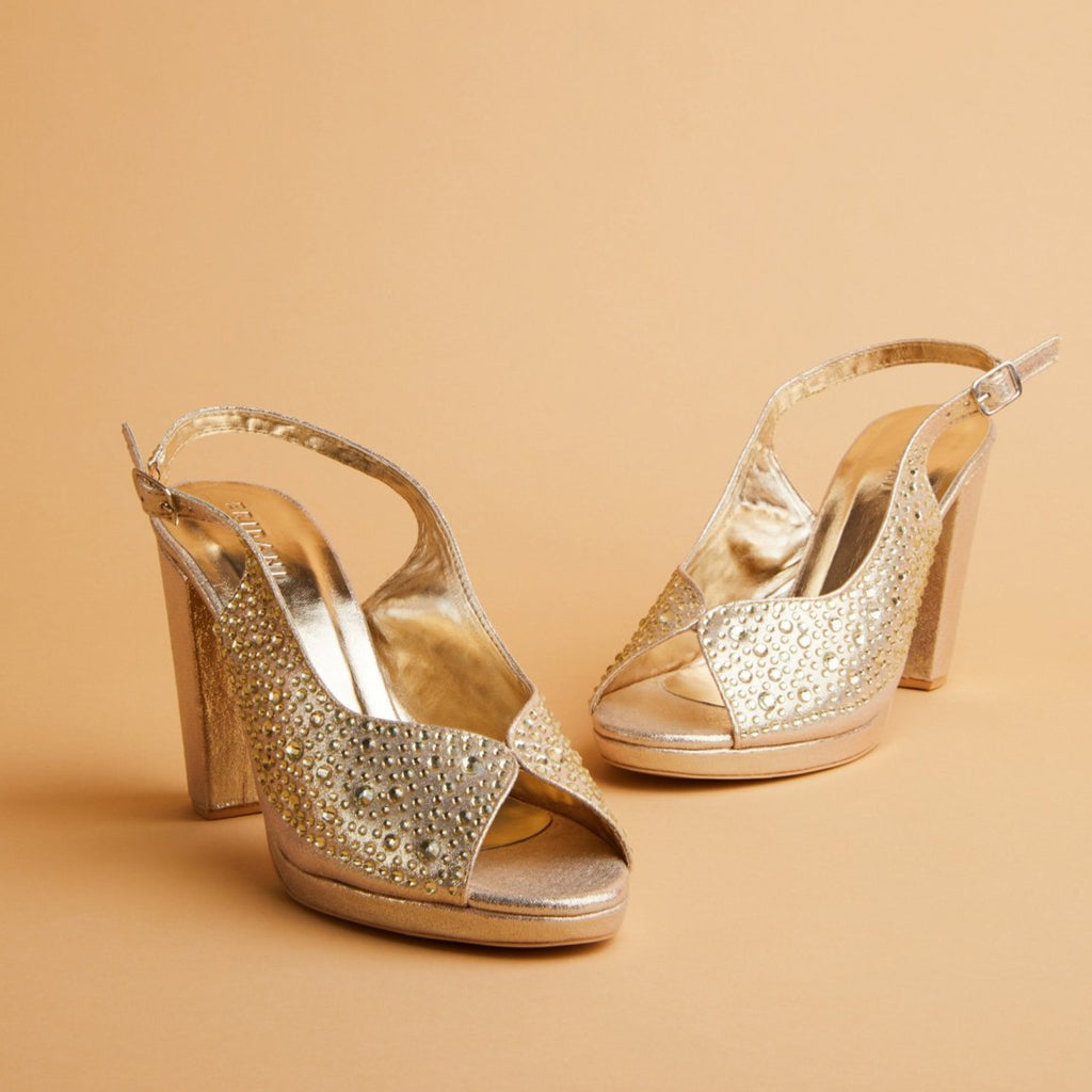 Dimante Gold heels