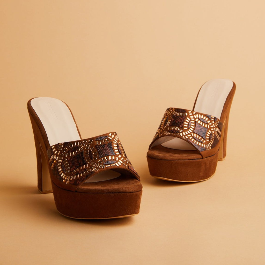 Eridani Lux Brown Heels