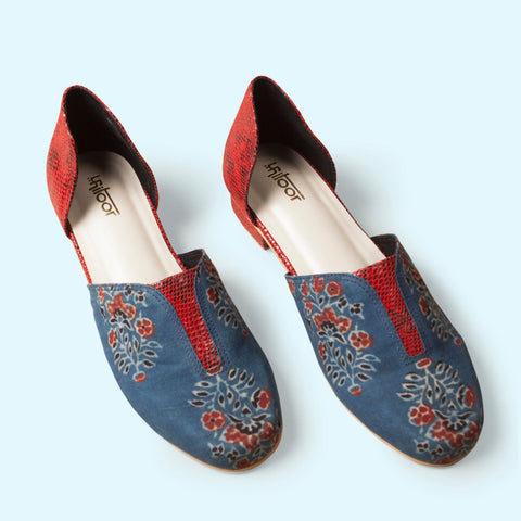 Prominent Blue and Red Loafers
