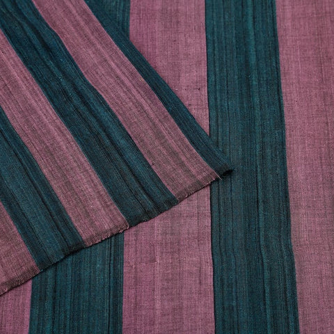 Assam cotton saree in purple and turquoise blue
