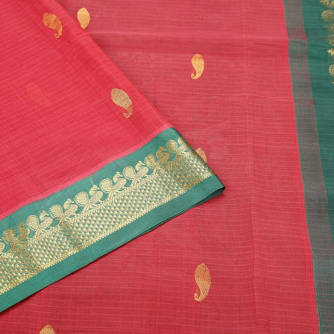 Gadwal Handloom pink Cotton Saree