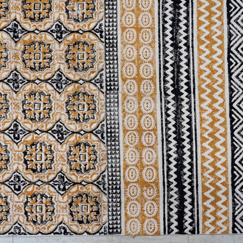 Multicolor Handblock Printed Cotton Dhurrie