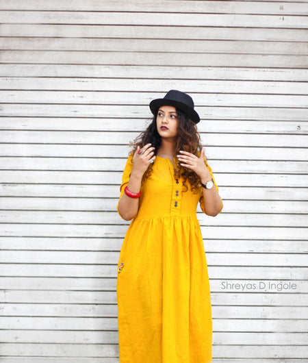 "mustard Mustard ""Sunrise To Sunset Dress"