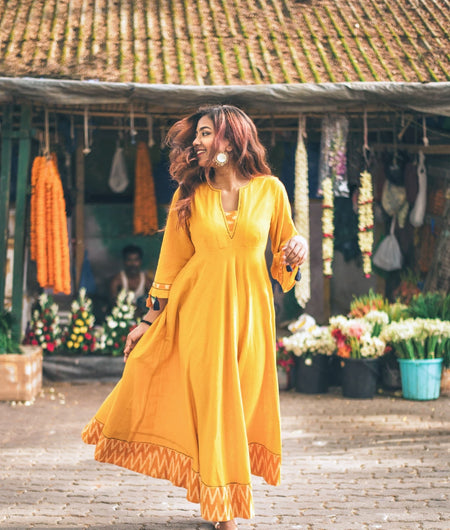 Marigold Fit and Flare Dress