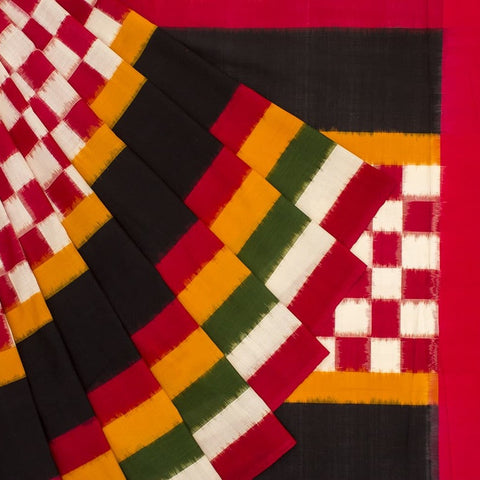 Pochampally Ikkat Cotton Multicolor Saree