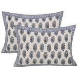 Flora Bunch Hand Block Print Double Bedsheet with Pillow cases (Set of 3)