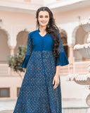 Cape Royal Blue Kurta With Pencil Pants