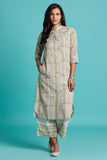 Hand Block Cream Cotton Kurta