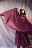 Handwoven Lilac Organic Cotton Kurta Pant and Dupatta Set