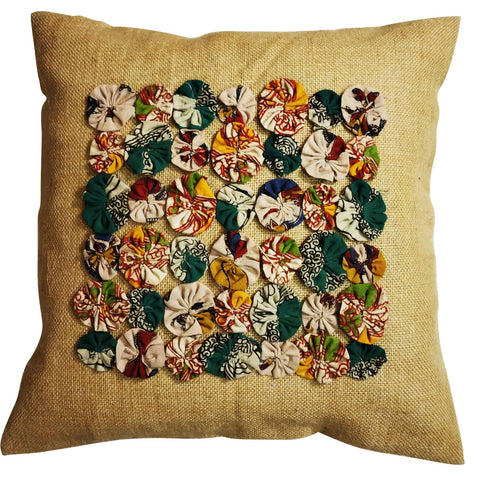 Kalamkari Flower Cushion Cover