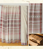 Handloom oragnic cotton woven white Saree