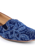 Blue And Tan Moccasins Shoes