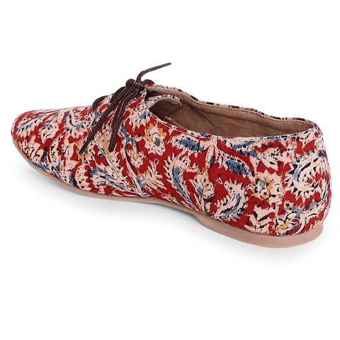 Kalamkari Block Oxfords Shoes