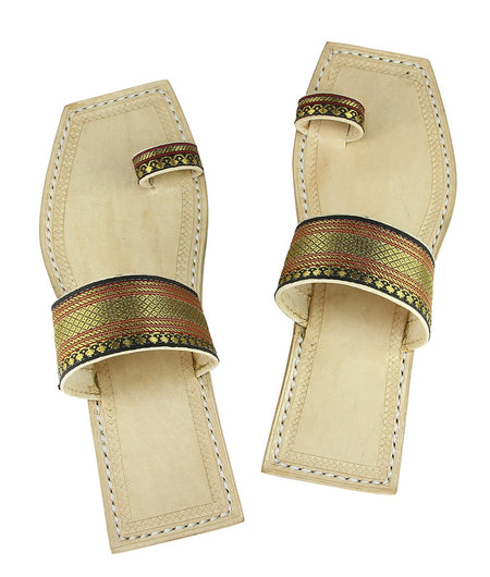 Hand Crafted Black Kolhapuri Chappal For Women