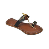 Women Handcrafted Multicolor Kolhapuri Chappal