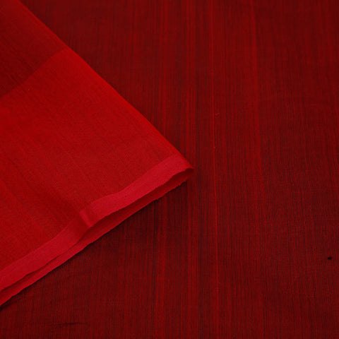 chanderi handwoven chanderi silk red plain Saree