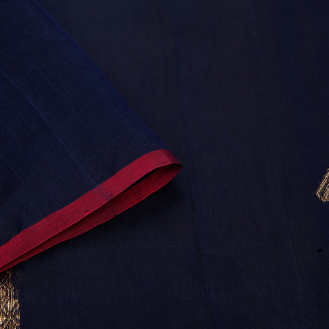 chanderi handwoven chanderi silk navy blue parrot Saree