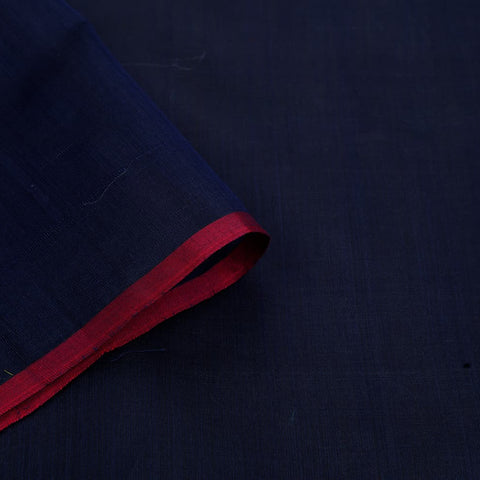 chanderi handwoven chanderi silk navy blue plain Saree