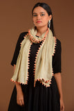 Beige and Peach Semi pashmina stole