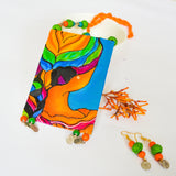 Cabana Hand Painted Necklace and Earring Set