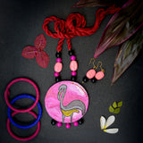 Florence Hand Painted Necklace and Earring Set