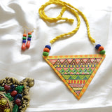 Valley Warli Hand Painted Necklace and Earring Set