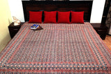 Hand Block Black and Red Ajrakh Kantha cover (Gudari)