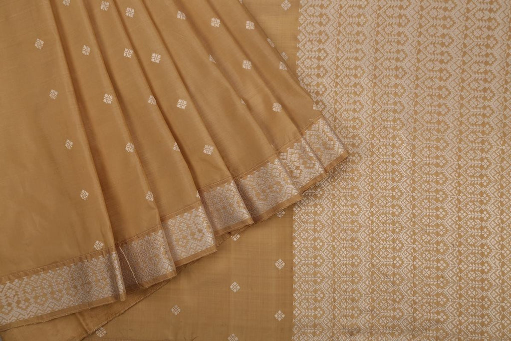 Assam Handwoven Silk  Cream Saree