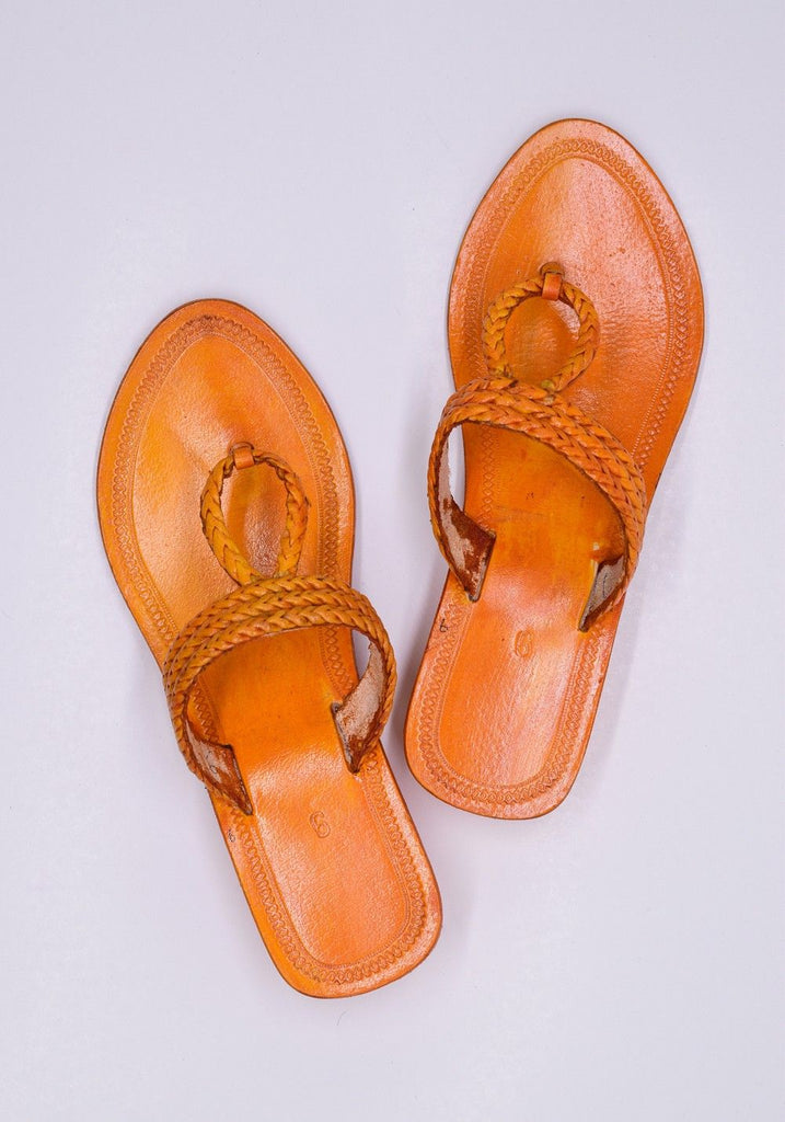Kiara - ' O' Ring Genune Leather Handmade Kolhapuri Chappal for Women