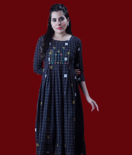Handwoven Black Handloom cotton Dress