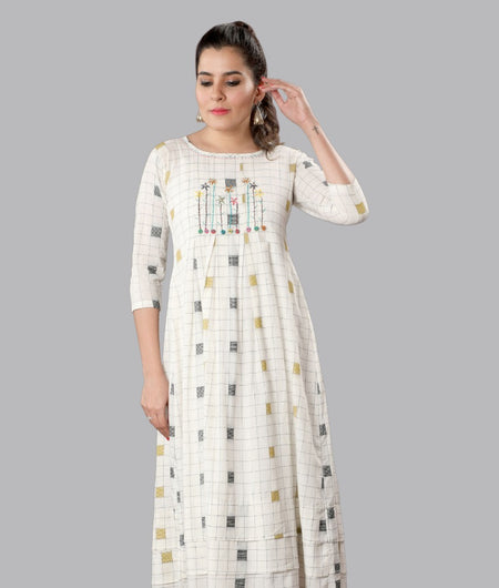 Handwoven White Handloom cotton Dress