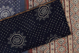 chanderi cotton silk Blue bandhani pattern Saree