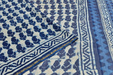 chanderi silk white and blue  paisely motif Saree