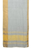 linen zari grey plain motif Saree