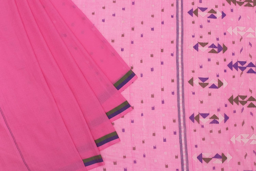 Phulia Handloom Cotton Off White Saree
