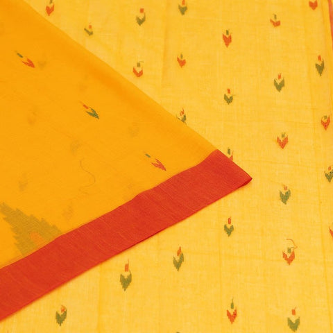 Phulia Handloom Muslin Sunflower Yellow Saree