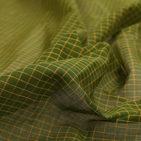 Begampur Cotton Green Saree with Naksha border
