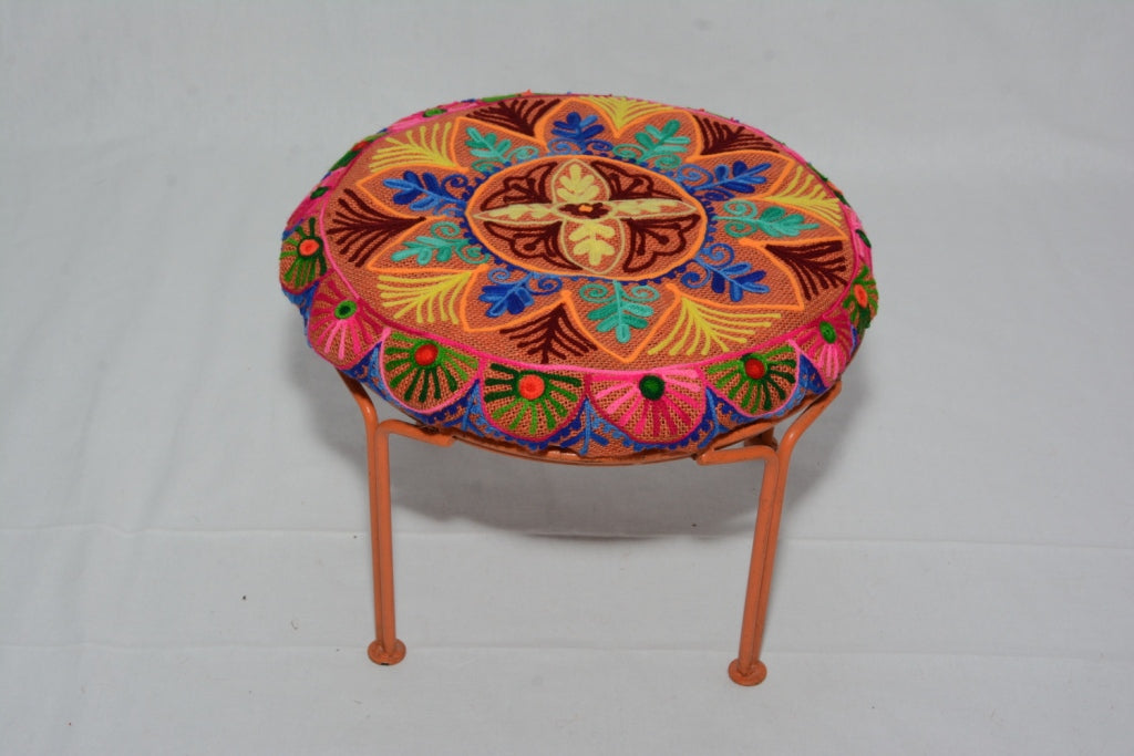 Handmade Multicolor Iron Foor Stool