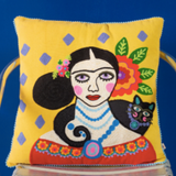Hand Crafted Multicolor Cotton Cushion Cover (45.72cm x 45.72cm)