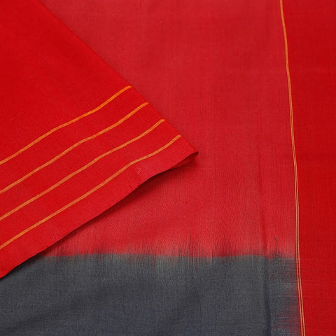 Pochampally Handloom Ikkat Silk Tri Colour Body Saree