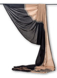 Peach & Black-Saree-PROSAR0020