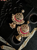 Gold Plated Kundan And Pearls Earrings