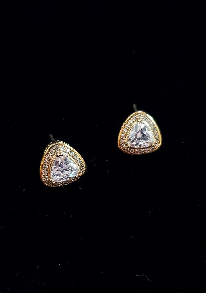 Gold Plated Diamonds Earrings