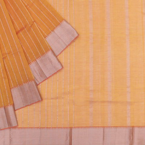 magalgiri Handloom mangalgiri orange stripes Saree