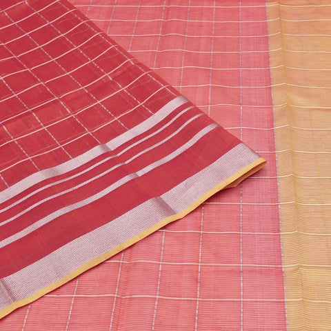magalgiri Handloom mangalgiri silk red checks Saree