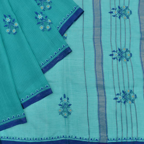 maheshwari Handloom silk green Lucknowi embroidery Saree