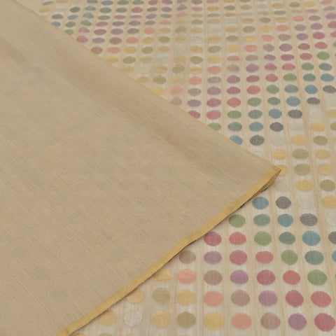 Handloom tussar cream plain Saree