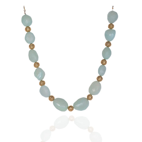 Adia Mint and Gold Stones Necklace